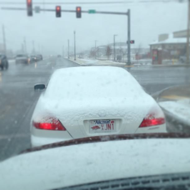What do you want to bet his/her front windshield wasn't scraped off either?
