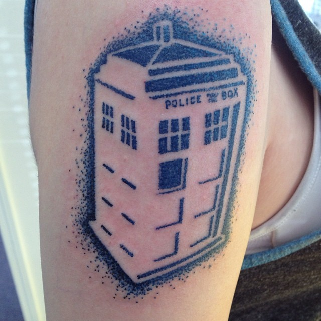 I almost forgot to post this little gem I got to do. #TARDIS