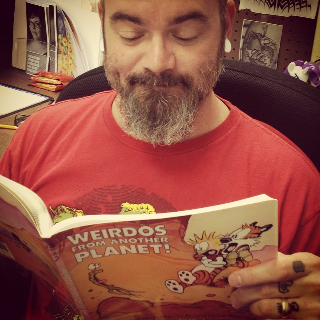 It's World Beard Day AND National Read A Book Day.