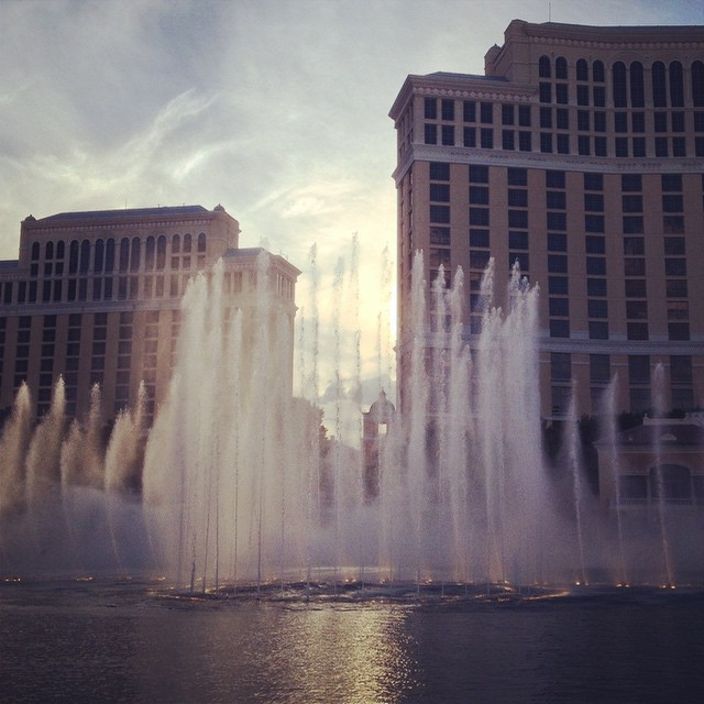 Fountains of... sunshine.
