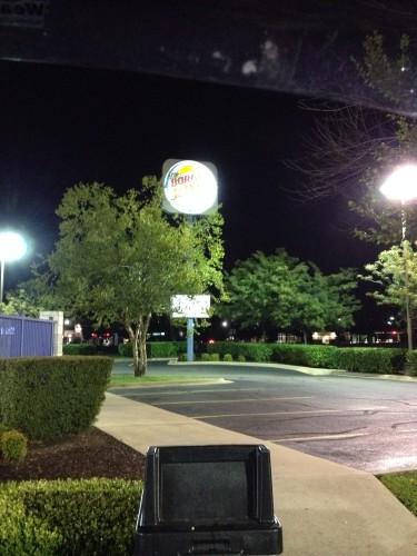 10:02 PM: Stopping at the BK for dinner. It's not on my diet, but I was craving a Whopper Junior.