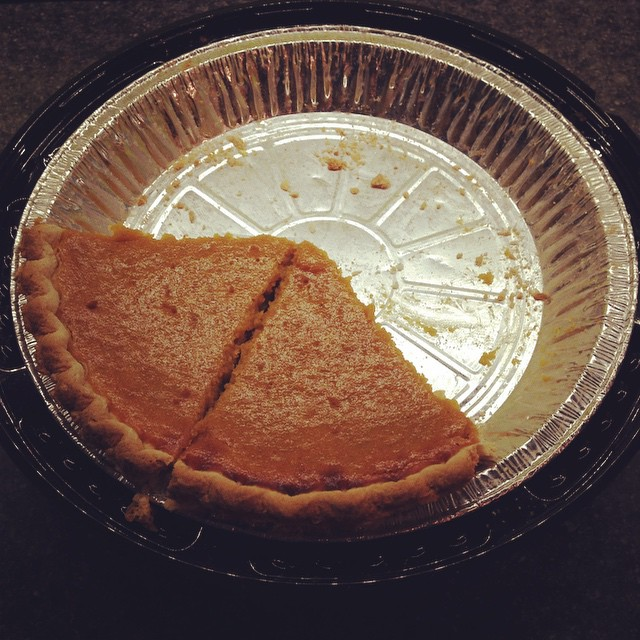 The Husbear bought me a pie... of which I have yet to have a piece.