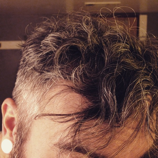 My Robert Smith hair starter kit is coming along marvelously it would seem.