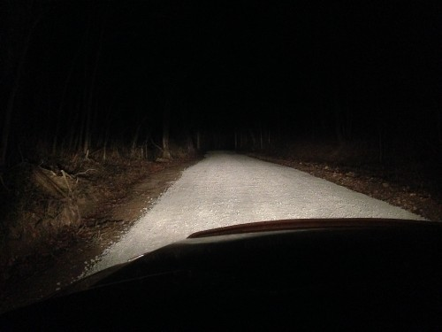 11:35 PM: The long back road home.