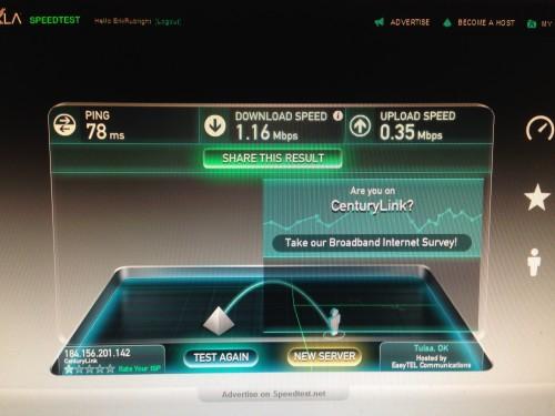 Baker's Dozen: 10:17 PM: I hate our Internet connection. Damn you CenturyLink!