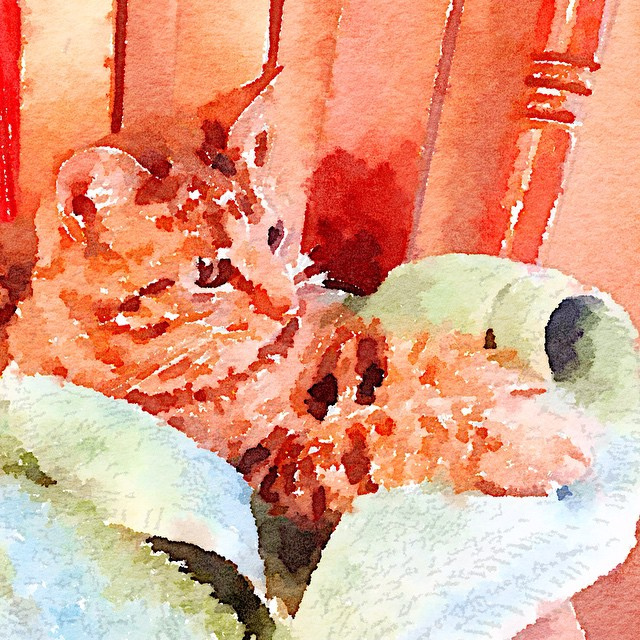 m lost in thought. (And me trying out the Waterlogue app.)