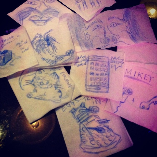 This is why you should make sure there are no crayons at the bar...