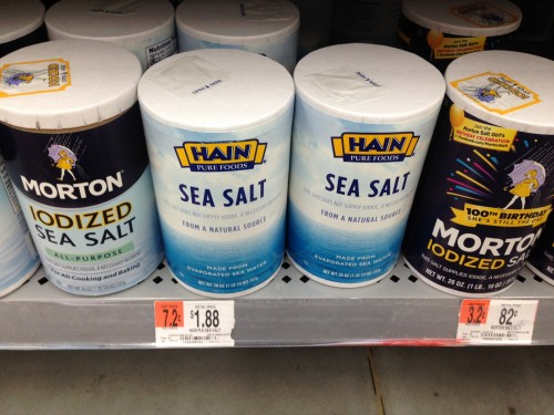 12:59 PM: I had to stop at the store to pick up some sea salt to start the mouth rinses to help heal my tooth hole. Who knew there were so many versions of salt?