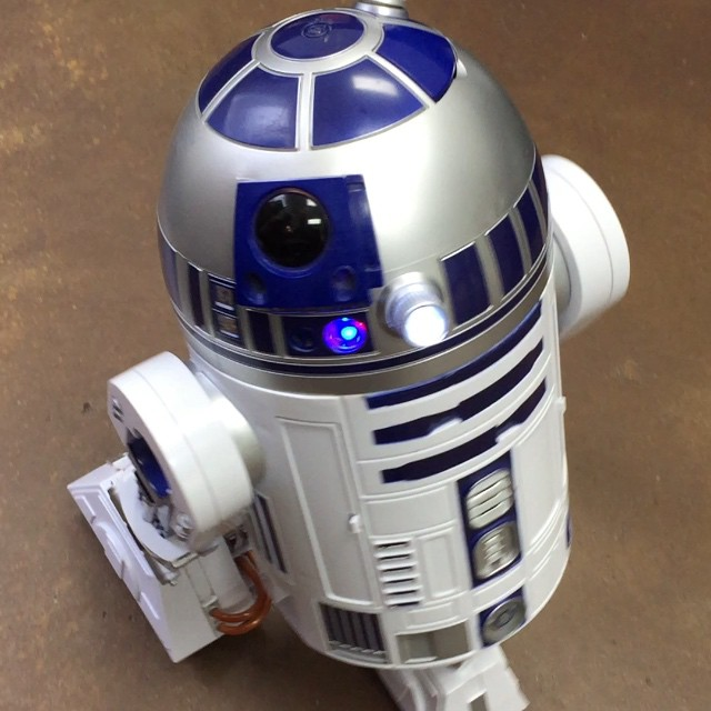 A client tipped me with this little R2 unit last night. New studio mascot!