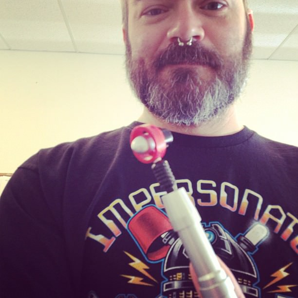 New toy! The Fourth Doctor's Sonic screwdriver! Thank you, Chad!