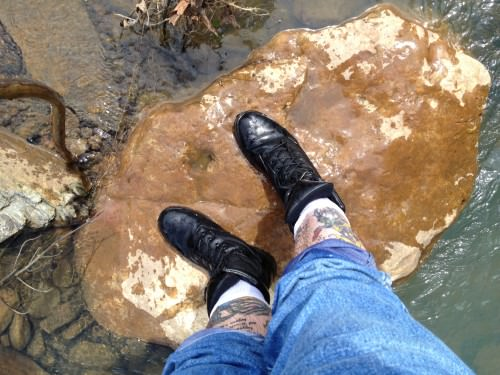 Yep. My boots are wet.