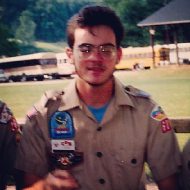 Summer of 1991, I think. My last summer as a BSA Camp Counselor in NC. #throwbackthursday