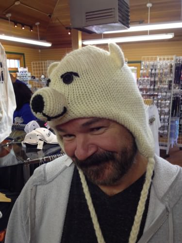 And the Husbear rocking the polar bear hat. ;-)