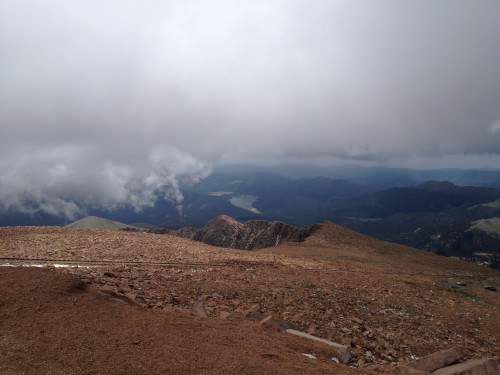 The view from Pike's Peak.