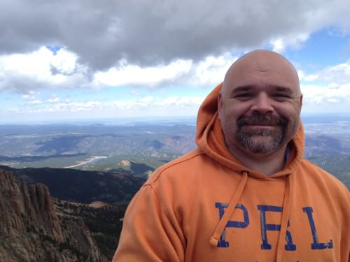 More of Dwayne on Pike's Peak.