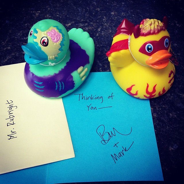 Surprise duckys in the mail today. Thank you so much, @voenixr and @tallbubba!