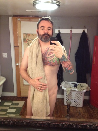 Me, in my 41-year-old birthday suit.