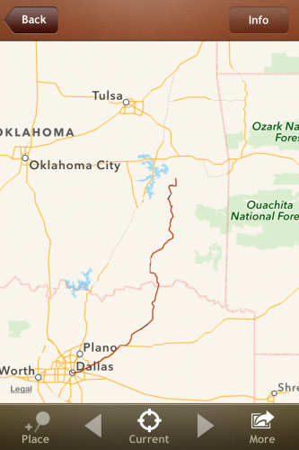 (For some reason, I didn't start recording the trip until somewhere in Oklahoma...)
