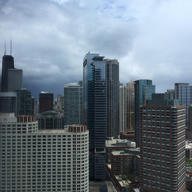 Leaving as the rain starts rolling in. Until next we meet, Chicago!