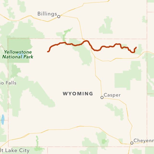 Day 3: 333 miles in 9 hours, with over 6000 feet in elevation change today. Oy! My ears are still popping. From Hulett, WY to Cody, WY.
