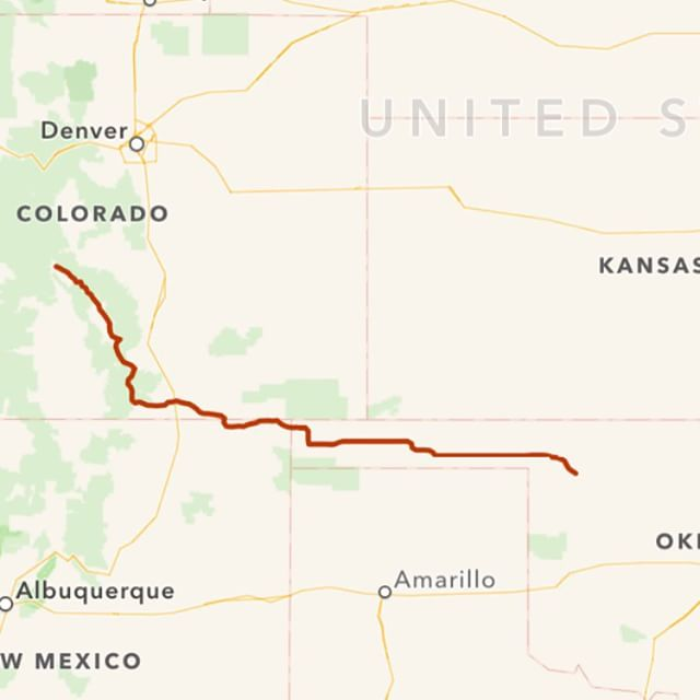 Day 8: 512 miles from Salida, Colorado to Woodward, Oklahoma via the backroads routes in about 12 hours. Almost home.