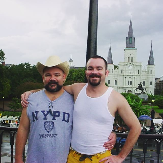 2003. Our first trip to NOLA for Southern Decadence. So long ago... and so much uninked skin.