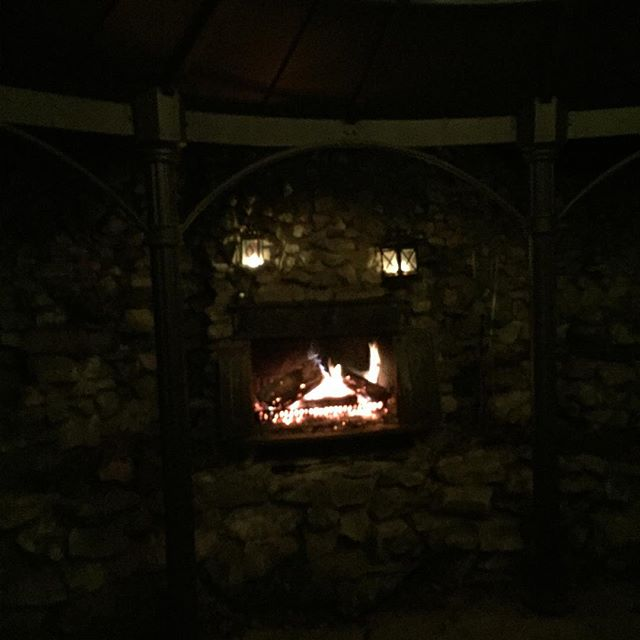 Our outside fireplace, or the fire devil. You decide. I'm a fan of the devil myself.