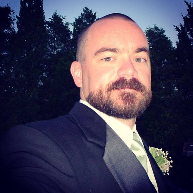 Another from 10 years ago, at my sister's wedding. Maybe I'll do that facial hair arrangement again someday.