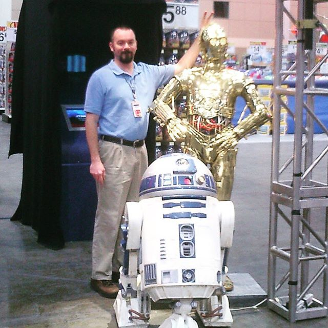 Apparently 10 years ago Star Wars was a thing, just like now. This was taken when I worked for the OGRE and was doing computer setups for the YBM. #i️❤️robots