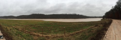 Panoramic view of Sugar Creek just south of Hwy 72