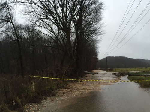 Washout on Sugar Creek Road