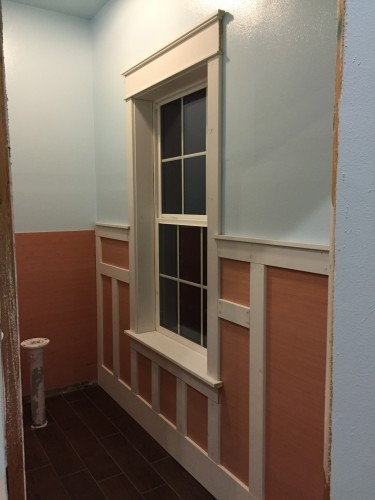 Window trim and wall paneling...