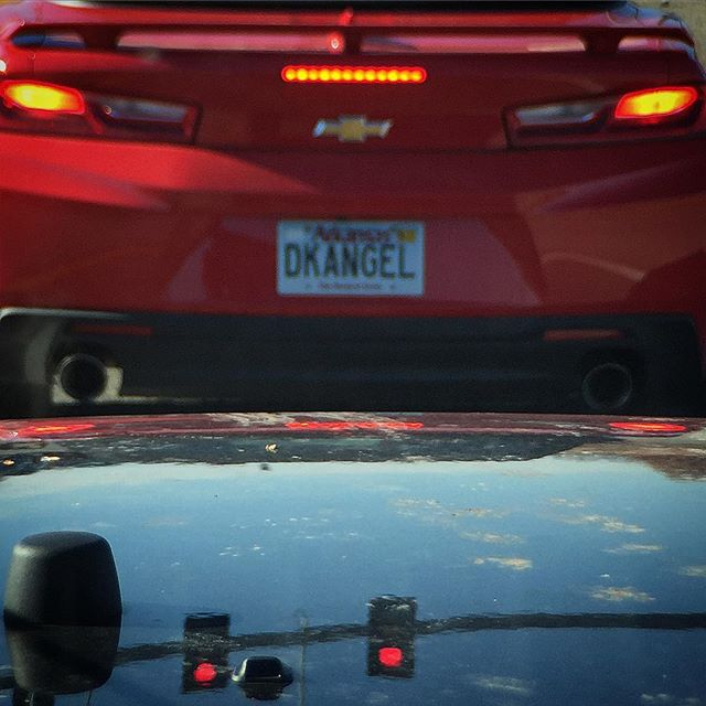 """Dick angel""? This is why letter choices are sooooo important when picking a vanity plate."