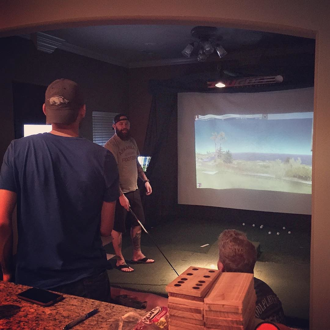 Seriously. This is a thing. Golf. Inside the house.