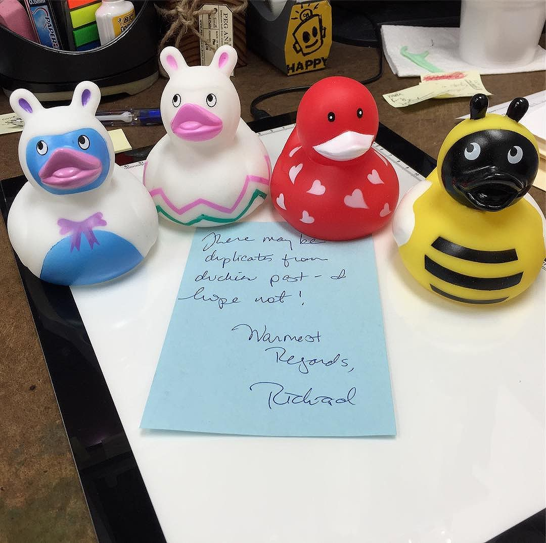 Presents in the post today! Rubrducks! Thank you, Richard!