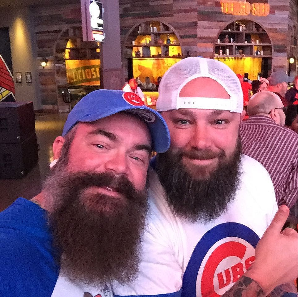 This guy. He's a Cubbie for life. I'm just here to help with the booze.