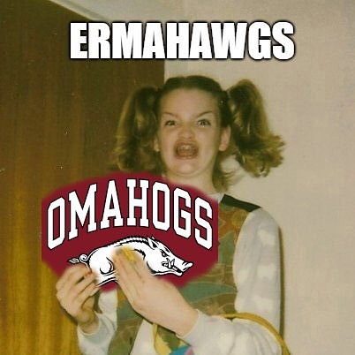 There. You're welcome. #arkansasrazorbacks #omahogs