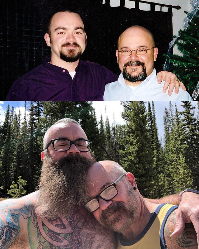 Happy anniversary to my Husbear of 21 years. I guess time really does fly when we're having fun! I am so lucky to have you as my husband, and I love you so very much. #loveislove #lovewins