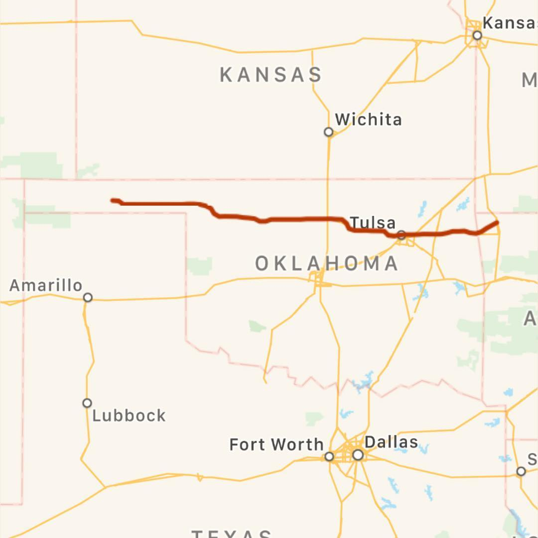 Day 1. 441 miles. Oklahoma, why do you have to be so... long? #sprintabout2018