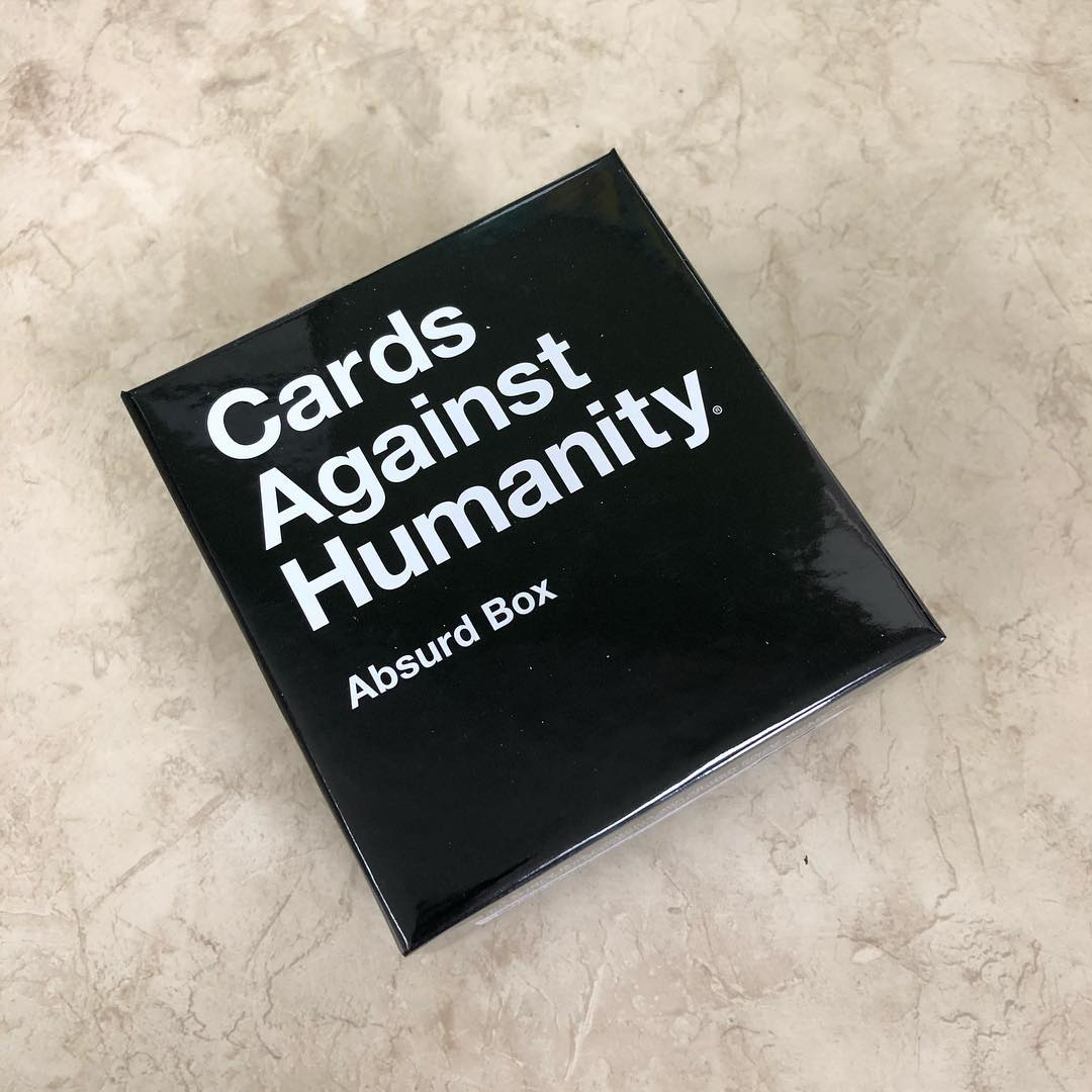 300 new cards! Reading these might cheer me up. I need to play this again soon with friends. #cardsagainsthumanity