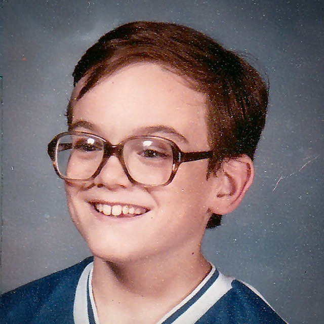 I may be 45 years old, but this very, very old picture of me is how I feel on the inside most days: that geeky little introverted nerd who doesn't know how to handle social interaction