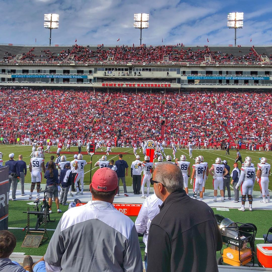 My first in-stadium Razorback game!