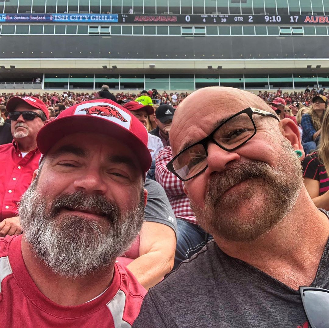 Our first Razorback game together...