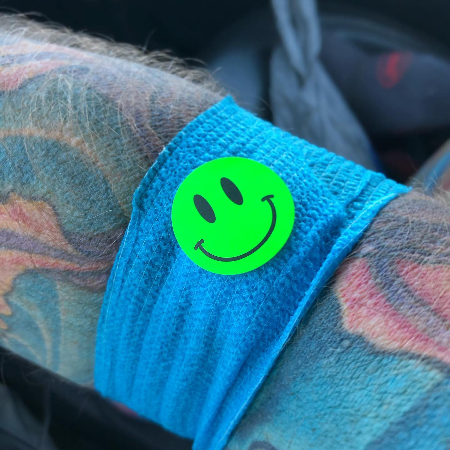I know they mean well with the happy face, but all my brain sees is Mr. Yuk.