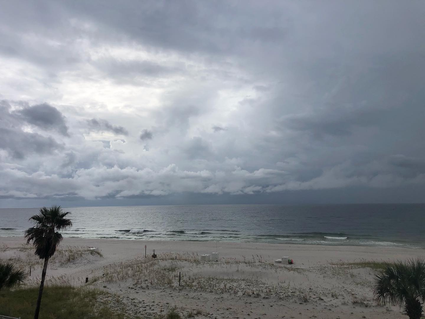 """""""I'm the Oncoming Storm, the Bringer of Darkness…""""Wednesday raininess. A different view of beach relaxation."""