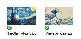 The Starry Night and The Great Wave